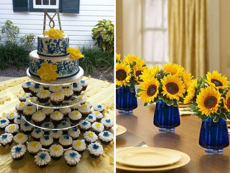 Inspirations for Blue and Yellow Wedding Colors - EverAfterGuide