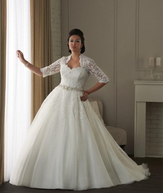The best wedding dresses for brides with fat arms for Best wedding dresses for short fat brides