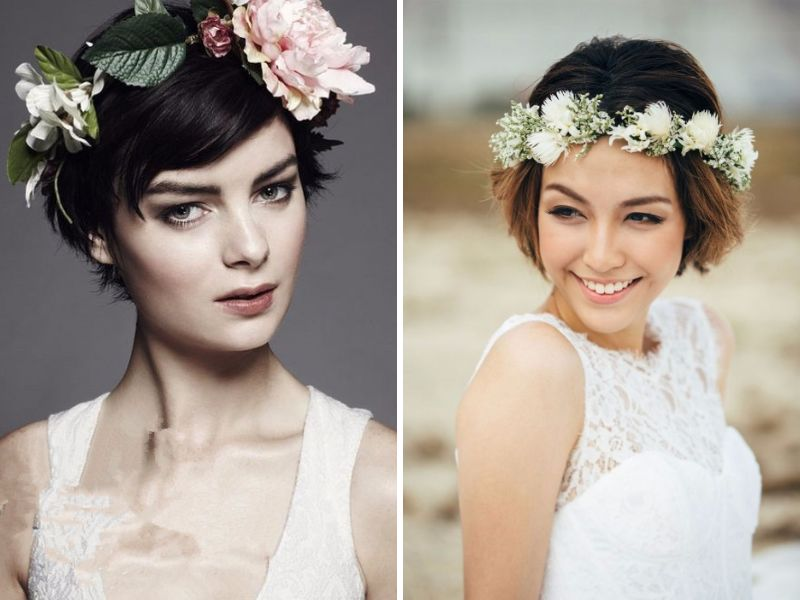 Same Hairstyle On Their Wedding Day Or A Flower Crown For A Beautiful Summer Wedding Just Imagine You Can Be Your Own And Your Grooms Flower Girl