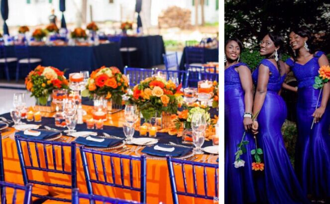 Royal Blue And Orange
