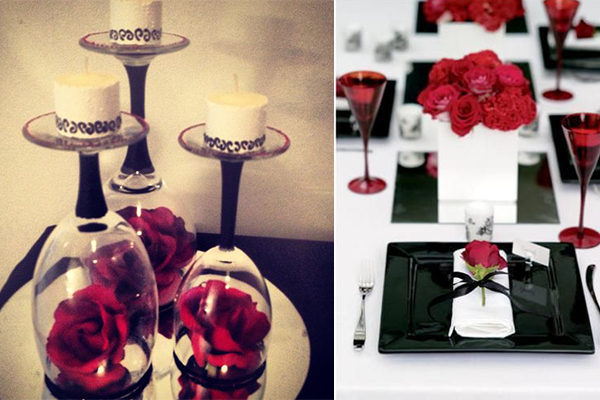 With The Small Details You Can Really Make Most Beautiful Red White And Black Table Centerpieces
